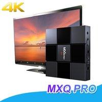 mini-set tv-box großhandel-MXQ PRO 2 GB 16 GB 4 Karat TV Box 17,6 Quad Core Android 7,1 Smart OTT TV Set Top Boxen Media Player VS X96 Mini