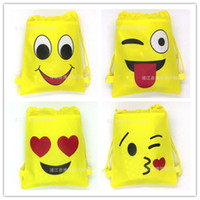 Wholesale 24Pcs Wacky Expression Gift Bag Drawstring Bag School Backpack for Kids Boy Birthday Party Favors Shoes Clothes Storage Bag