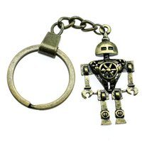 Wholesale insects robots resale online - 6 Pieces Key Chain Women Key Rings Fashion Keychains For Men Robot x25x7mm