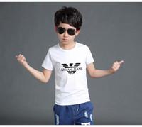 düz renkli gömlek çocukları toptan satış-Yeni Moda Çocuk Yaka Kısa kollu Tişört Boys Tops Giyim Markalar Katı Renk Tees Çocuk Polos t Gömlek Kızlar Klasik Pamuk T gömlek