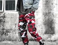 pantalon de chine d'homme achat en gros de-High Street Casual Brand Chine a Hip Hop Pantalon Droit Sportwear Camouflage Cargo Pants Hommes et Femmes Lâche Long Pantalon