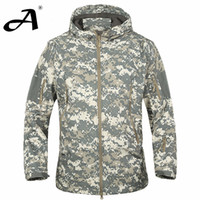 Wholesale waterproof military jacket online - Army Camouflage Coat Military Jacket Waterproof Windbreaker Raincoat Clothes Army Jacket Men Jackets And Coats
