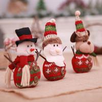 vasos de navidad al por mayor-2018 Árbol de navidad Muñeca Rama de Navidad Palo Pequeño Papá Noel Juguete Cuelgue Decoración Reno Muñeco de nieve Escritorio Festival Regalo de vacaciones