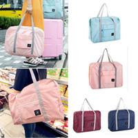 katlanır taşıma çantası dükkanı toptan satış-25L Büyük Kapasiteli Katlanır Taşıma Çantası Su Geçirmez Seyahat Bagaj Ambalaj Çanta Alışveriş Çantası Elbise Depolama Kılıfı Organizatör Carry-on Duffle