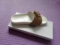 Wholesale comfortable gold sandals - Brand new Fashion comfortable Slippers medusa men & women slides sandals men Beach shoes slipper With Box