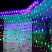 cadena exterior envío gratis al por mayor-Envío Gratis 6Mx4M 640 Led Fairy Net Lights Festival Net Mesh String Fiesta de Navidad Boda Luces de Navidad Decoración al aire libre Iluminación