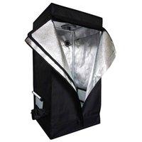 Wholesale plant powder - 60 x 60 x 120cm Home Use Dismountable Hydroponic Plant Grow Tent Black Greenhouse