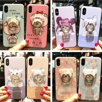 Wholesale Rings Prices - For iphone X 8 plus cell phone case with ring iphone 7 6 plus case with bracket Soft cartoon TPU wholesale price free shipping