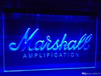 Wholesale led signs guitar - LL168b- Marshall Guitars Bass Amplifier LED Neon Light Sign