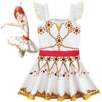 Wholesale Kids Ballerina Dress - Movie Ballerina Felicie Cosplay Costume for Girls Dress Halloween Costume for Kids Sleeveless Dress