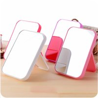 Wholesale wholesale folding frames - HD single sided make up mirror desktop colorful dressing mirror folding portable large square princess mirror for DHL free shipping