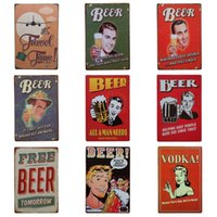 Wholesale cheers sign for sale - Group buy Cheer Beer Drinking Theme Tin Sign For Bar Night Club Hang Create Atmosphere Iron Painting Retro Tins Poster cm Z