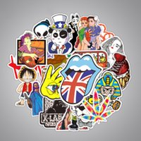 Wholesale wholesale laptops stickers online - 200 Mixed Funny Stickers JDM Kids Toy Sticker for DIY Luggage Laptop Skateboard Motorcycle Car Phone Waterproof Decal