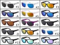 orjinal marka toptan satış-2018 YENI MARKA Orjinal Kalite SUNGLASSES gözlük gözlük MAT SIYAH W / ERKEKLER IÇIN POLARIZE LENS 12 RENK seçenekleri