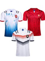 Wholesale france style - New style 2018 2019 France Super Rugby Jerseys 18 19 France Shirts Rugby Maillot de Foot French BOLN Rugby shirt size S-3XL