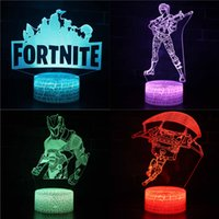 Wholesale fool toys for sale - FORTNITE D Night Lamp Battle Royale Luminous LED Night Light USB Wireless Remote Control Table Lamp For Kids Festival Toys Gifts B142