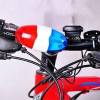 som da sirene do carro venda por atacado-À prova d 'água Alto Ciclismo Bicicleta Elétrica Chifre Da Bicicleta Da Bicicleta Ciclismo 4 Sons 6 LED Car Sirene Luz Elétrica Buzina Sino