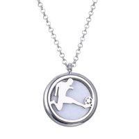 patrones para collares al por mayor-Patrón de fútbol deporte Aroma difusor collar moda medallones pendientes colgante perfume esencial collar TZX01
