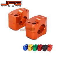guiador laranja venda por atacado-Billet Alumínio Guiador Riser Clamp Bar Adaptador Adaptador de Montagem Para Pit Dirt Bike Motocicleta Mudança 22 A 28mm 1-1 / 8