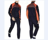 Wholesale Mens Sports Track Suits - Fashion Running Men Sport Suit Lightweight Breathable Mens Tracksuit Set Jogging Track SuitsJacket+Pants Sportswear Casual Sweatshirt Hoodi