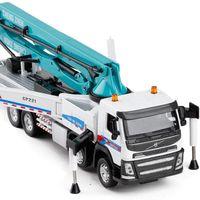 kamyon alaşımları toptan satış-1:50 Volvo mühendislik beton pompası kamyon alaşım oyuncak araç diecasts metal modeli soundlight koleksiyonu modelleri ücretsiz kargo