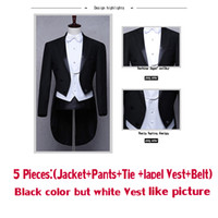 Wholesale Groom Belts - wuzhiyi Classic Design MenTail Wedding Suit Groom Tuxedo Evening Custom made 4pieces Blazer(Jacket+Pants+Belt+Tie) Gentleman