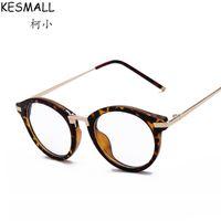 Wholesale Leopard Frame Glasses Optical - 2017 Retro Optical Glasses Frame Women Men Eyewear Leopard Design Male Fashion Eyeglasses Frames Fit For Clear Lens Oculos YJ119