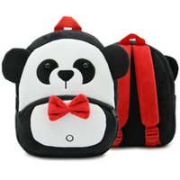 Wholesale girl bag panda resale online - Panda backpack Nice animal design day pack Small child bear school bag Kids packsack Plush rucksack Sport schoolbag Outdoor daypack