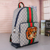e4b46bd0791 High quality men and women fashion fabric pattern handbags storage shoulder  bag tiger head animal pattern shoulder bag backpack
