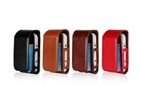 Wholesale flip electronics - uxury PU Leather Case Flip Cover cover bag For iQOS Electronic Cigarette Carrying Protective