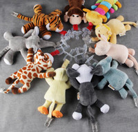 Wholesale Baby Pacifier Soother - Baby Silicone Pacifiers with Plush Animal Safe Baby Nipples Teat Animal Plush Nipple Soother Toys baby pacifier doll KKA4009