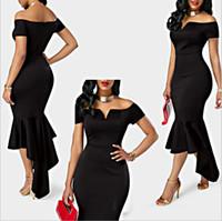 Wholesale black prom dresses for short girls for sale - Group buy Sexy Black Girl Short Prom Dresses Off the Shoulder Cocktail Dresses Tea Length Formal Gowns Cheap Dresses for Black Girls