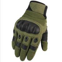 ingrosso guanti duri-Touchscreen Tactical Cycling Motorcycle Combat Hard Knuckle Guanti da dito pieno Arrampicata su roccia Fast-Rope Fitness