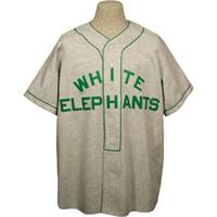 broderie d'éléphant achat en gros de-Denver White Elephants 1930 Road Jersey 100% brodé Logos de baseball Vintage Maillots Personnalisé N'importe quel Nom