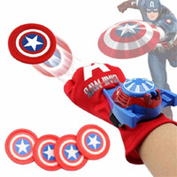 Wholesale kids spiderman cosplay for sale - DHL Cosplay Marvel Avengers Super Heroes Gloves Laucher Spiderman Ironman One Size Glove Gants Props Christmas Gift for Kid toys