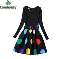 Wholesale fall girl clothes resale online - Girls Dress for Teenager Long Sleeve Clothing Belt Floral Princess Party Dress Fall Patchwork Ceremony Year Kid Clothes
