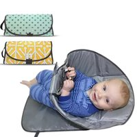 Wholesale diapers pad - Moisture-Proof Baby Changing Pad Multifunctional Outdoor Portable Clean Hands Diaper Clutch Changing Station Folding Waterproof Multi Color