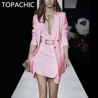 ingrosso vestiti di rosa delle donne di qualità-Abito da passerella di alta qualità adatto alle donne 2018 giacca e giacca abito rosa blazer di nuovo arrivo
