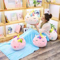 Wholesale stuffed animal cushion for sale - Unicorn Air Conditioning Blanket Pillow Styles Kawaii Stuffed Soft Sofa Cushion Towel Home Decoration Kids Blankets OOA5946