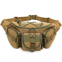 cinturón de escalada militar al por mayor-Free Knight Wear-resistant militar deporte al aire libre Molle Waist Bag Hip Belt Pack para la mayoría de las actividades deportivas como trotar, correr, escalar