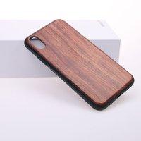 cajas de teléfono antichoque al por mayor-Caja de madera de alta calidad para el iphone x de madera real con 360 protectores TPU anti-shock para iphone x