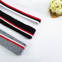 flach gestrickter baumwollstoff großhandel-3 Farben dehnbar Baumwolle Rippe DIY Erwachsenen flach Strickware zum Nähen Kragen Manschetten Kleidungsstück Zubehör Rippe