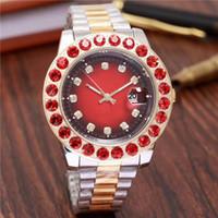 relógio de data perpétua venda por atacado-2018 44 MM Homens Mens Watch Big Diamonds Day-Date Aço Inoxidável Perpétuo Presidente Automático Diamante Relógio De Pulso Relógios.
