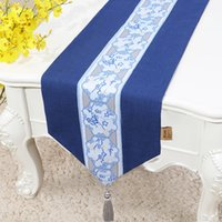 elegant table cloths NZ - 120 inch Extra Long Embroidered Elegant Table Runners for Wedding Christmas Party Table Decoration Cotton Linen Table Cloth 300 x33 cm
