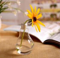 освещение напольной вазы оптовых-Лампа стеклянной вазе террариум вазы милый цветочные горшки настольный современный сосудисто свадьбы пола воздуха плантатор декоративные вазы SN1602