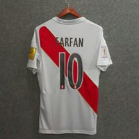 Wholesale Quality Custom Homes - Perfect 2018 peru home soccer jersey fans top thai aaa quality football jerseys custom name number GUERRERO FARFAN FLORES world cup