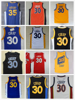 Wholesale chinese boys - #30 Stephen Curry jersey the 35# evin Durant the city jersey Davidson Wildcats blue white yellow Chinese jersey SWINGMAN jerseys