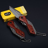 Wholesale Pocket Knives Buck - Buck X59 Little Knife 5CR13MOV 56HRC Tanto Point Small Folder Knives EDC Folding Pocket Keychain Knife D749Q