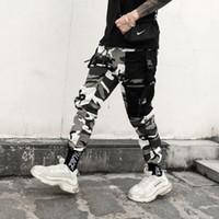 fikirler modası toptan satış-Roman fikirler Renk Camo Kargo Pantolon 2018 Erkek Moda Baggy Taktik Pantolon Hip Hop Rahat Pamuk Çok Cepler Pantolon Streetwear