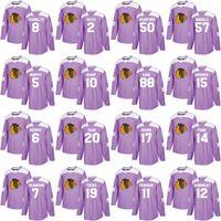 Wholesale blackhawks practice jersey online - Chicago Blackhawks Hockey  Fights Cancer Practice Purple Jonathan Toews Patrick 72bf71734